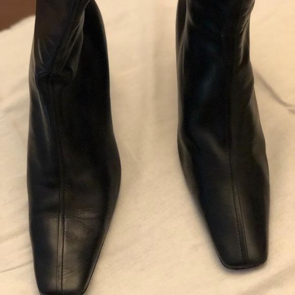 Ladies Prada black leather bootie